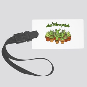 Cactus - Don't be a prick Large Luggage Tag