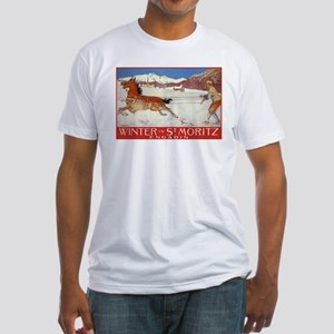 Winter In St Moritz Fitted T-Shirt