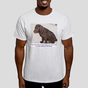 Wet Lab Puppy Ash Grey T-Shirt