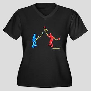 Yo K Corral Yo-Yo Shirt Women's Plus Size V-Neck D