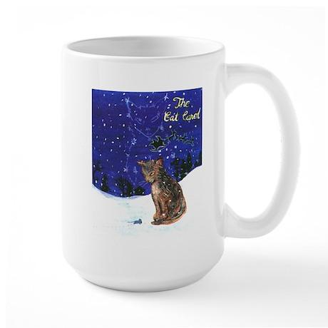 Cat Carol Large Mug