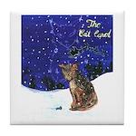 Cat Carol Tile Coaster