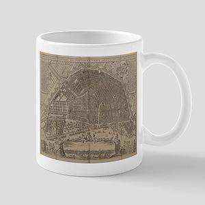 Vintage Map of Amsterdam (1721) Mugs