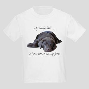 Chocolate Lab Heartbeat Kids T-Shirt