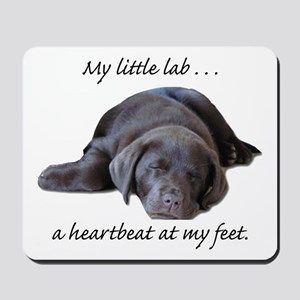 Chocolate Lab Heartbeat Mousepad