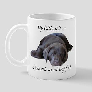 Chocolate Lab Heartbeat Mug