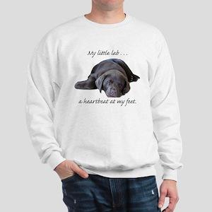 Chocolate Lab Heartbeat Sweatshirt