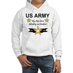 Army Step Son Defending Hooded Sweatshirt
