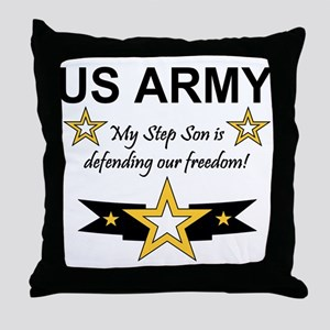 Army Step Son Defending Throw Pillow