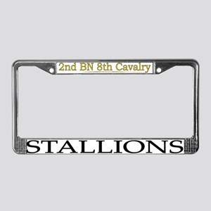 2nd bn 8th cav License Plate Frame