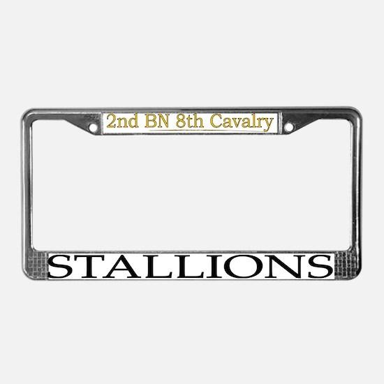 2nd bn 8th cav License Plate Frame