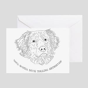 Toller Line Art Greeting Card