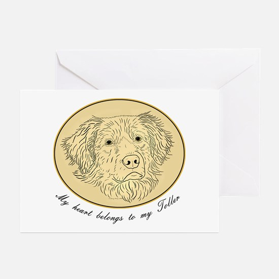 Toller Heart Greeting Cards (Pk of 10)