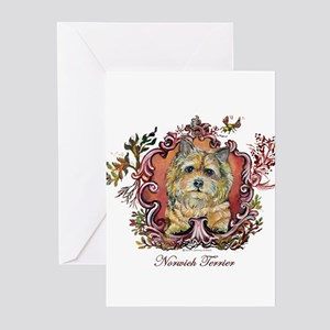 Norwich Terrier Vintage Greeting Cards (Pk of 10)