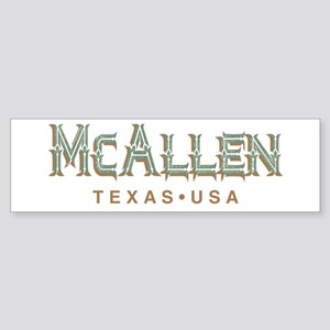 Retro McAllen Bumper Sticker