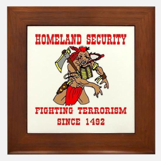 Fighting Terrorism Since 1492 Framed Tile