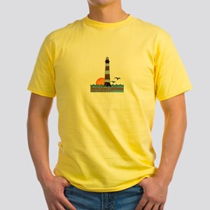 Morris Island Lighthouse SC Yellow T-Shirt