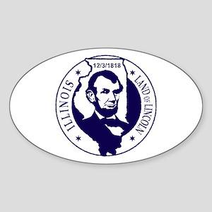 Illinois Oval Sticker