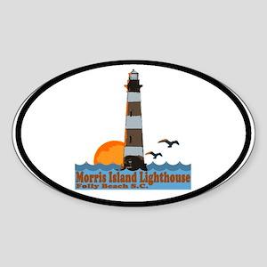 Morris Island Lighthouse SC Oval Sticker