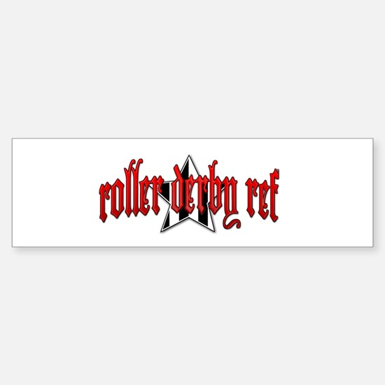 Roller Derby Ref Sticker (Bumper)