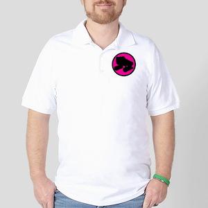 Pink Circle Skate Golf Shirt