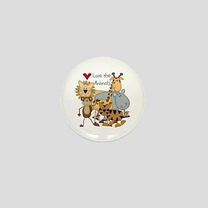 Love the Animals Mini Button