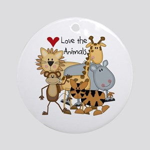 Love the Animals Ornament (Round)