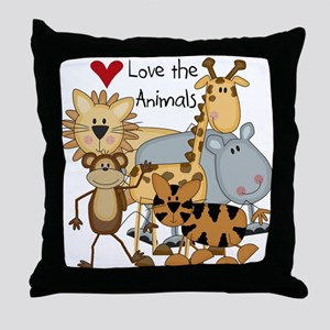 Love the Animals Throw Pillow