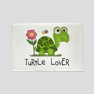 Turtle Lover Rectangle Magnet