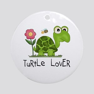 Turtle Lover Ornament (Round)