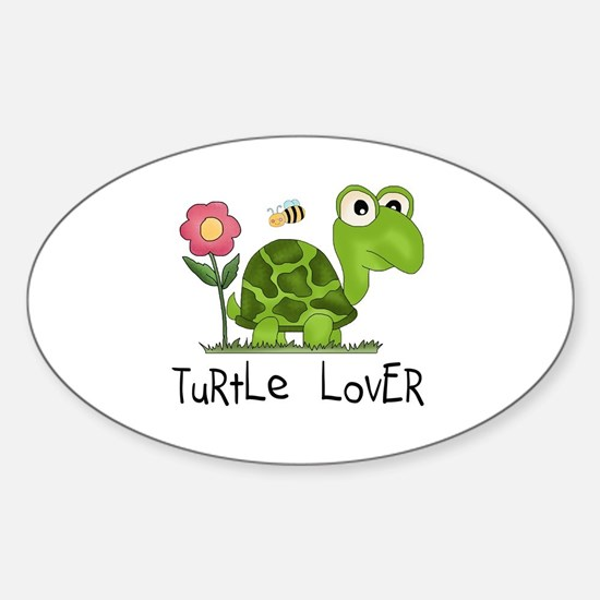Turtle Lover Oval Stickers