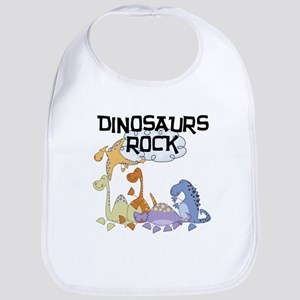 Dinosaurs Rock Bib