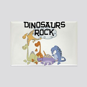 Dinosaurs Rock Rectangle Magnet
