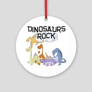 Dinosaurs Rock Ornament (Round)