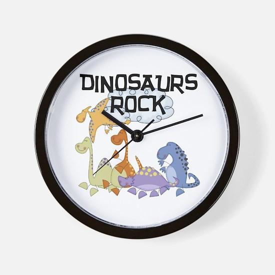 Dinosaurs Rock Wall Clock