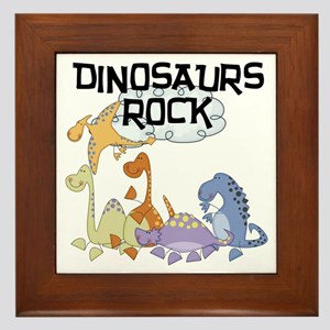 Dinosaurs Rock Framed Tile