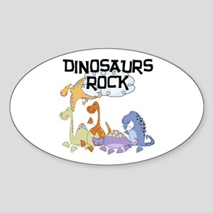 Dinosaurs Rock Oval Sticker
