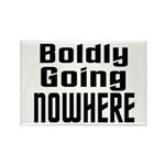 Boldly Going Nowhere Rectangle Magnet