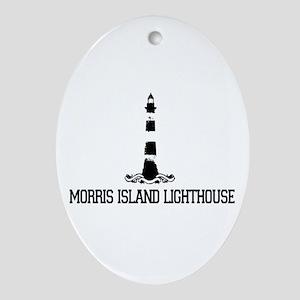 Morris Island Lighthouse SC Oval Ornament