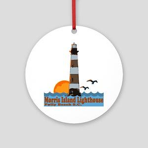 Morris Island Lighthouse SC Ornament (Round)