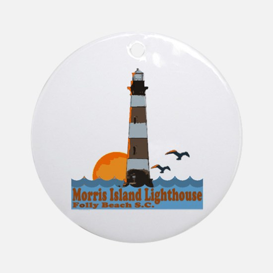 Morris Island Lighthouse SC Ornament (Round)