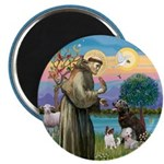 St Francis/3 dogs Magnet