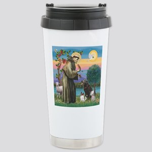 St Francis/3 dogs Stainless Steel Travel Mug