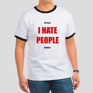 Official I HATE PEOPLE member ringer shirt