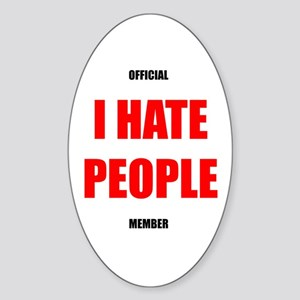 Official I HATE PEOPLE member sticker