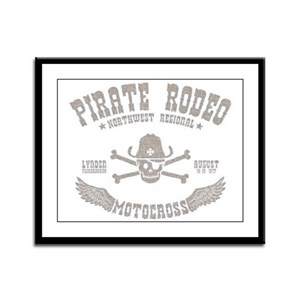 Pirate Rodeo Framed Panel Print