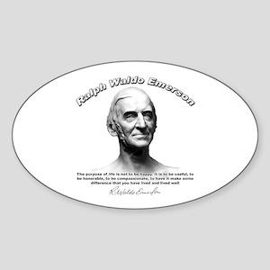 Ralph Waldo Emerson 01 Oval Sticker
