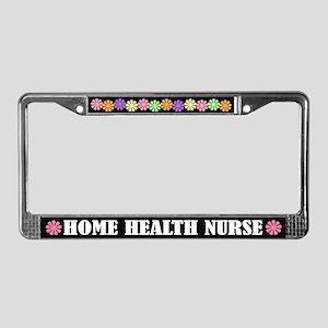 Home Health Nurse License Plate Frame