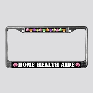 Home Health Aide License Plate Frame