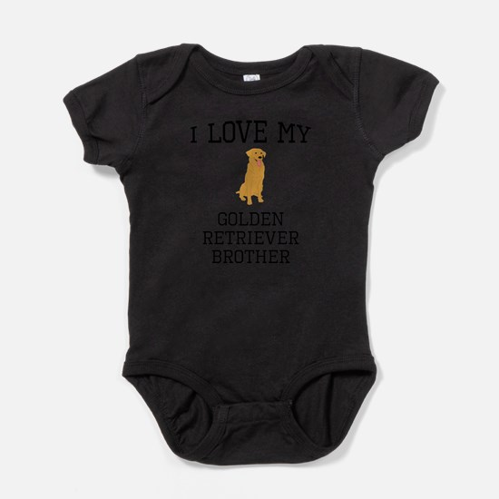 I Love My Golden Retriever Brother Body Suit